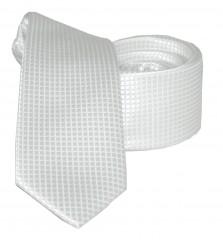 Goldenland slim nyakkendő - Fehér aprókockás