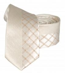 Goldenland slim nyakkendő - Arany kockás Kockás nyakkendők