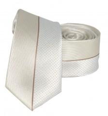 Goldenland slim nyakkendő - Drapp pöttyös