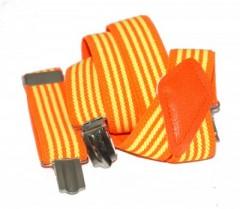 Gyerek nadrágtartó - Narancs-citrom csíkos Gyermek nadrágtartók