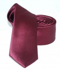 Goldenland slim nyakkendő - Bordó szatén