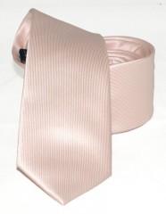Goldenland slim nyakkendő - Púder Egyszínű nyakkendők