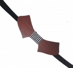 Fa csokornyakkendő - Sötétbarna Csokornyakkendők