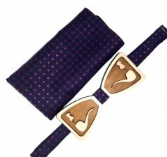 Fa csokornyakkendő szett - Pipa Csokornyakkendők