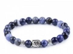 Férfi Budha ásvány karkötő - Kék