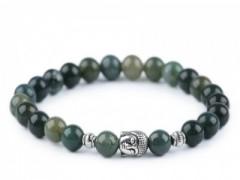 Férfi Budha ásvány karkötő - Zöld Férfi ékszer