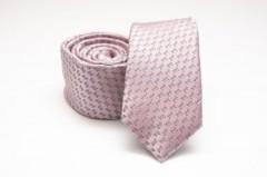 Prémium slim nyakkendő - Rózsaszín mintás