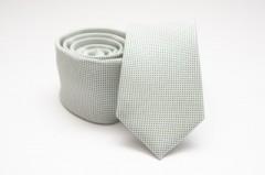 Prémium slim nyakkendő - Fehér pöttyös