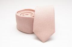 Prémium slim nyakkendő - Barack pöttyös