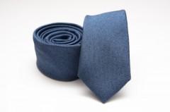 Prémium slim nyakkendő - Kék melír