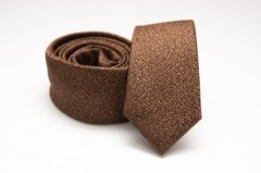 Prémium slim nyakkendő - Barna melír