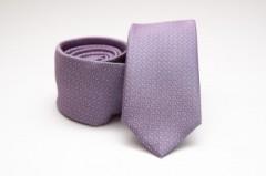 Prémium slim nyakkendő - Lila mintás