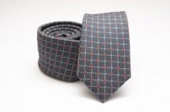 Prémium slim nyakkendő - Kékesszürke kockás