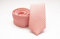 Prémium slim nyakkendő - Lazac pöttyös