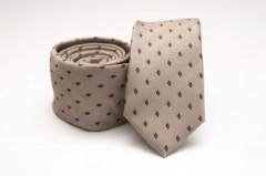 Prémium slim nyakkendő - Barna rombusz mintás Kockás nyakkendők