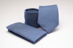 Prémium nyakkendő szett - Kék mintás Szettek