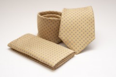 Prémium nyakkendő szett - Mustár pöttyös Szettek