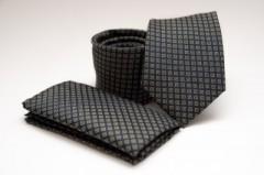 Prémium nyakkendő szett - Fekete mintás Szettek