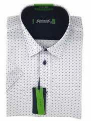 Goldenland rövidujjú slim ing - Fehér aprómintás Slim, Smart fazon