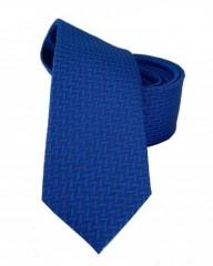 Goldenland slim nyakkendő - Királykék mintás
