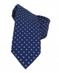Goldenland slim nyakkendő - Sötétkék kockás