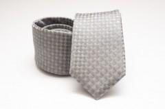 Prémium selyem nyakkendő - Ezüst mintás Selyem nyakkendők