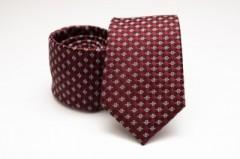 Prémium selyem nyakkendő - Bordó mintás