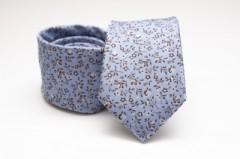 Prémium selyem nyakkendő - Kék virágos Selyem nyakkendők