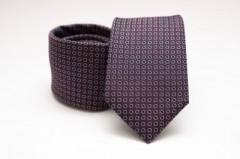 Prémium selyem nyakkendő - Lila pöttyös Aprómintás nyakkendők