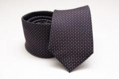 Prémium selyem nyakkendő - Fekete mintás Aprómintás nyakkendők
