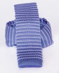 Prémium  kötött nyakkendő - Lila csíkos