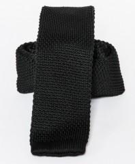 Prémium kötött nyakkendő - Fekete
