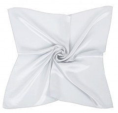 Zsorzsett szatén női kendő - Fehér Női sálak, kendők