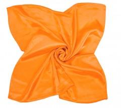 Zsorzsett szatén női kendő - Narancssárga