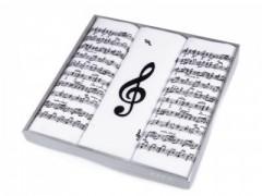 Zsebkendő szett - 3 db Hangjegy Pamut zsebkendő