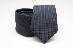 Prémium selyem nyakkendő - Acélkék