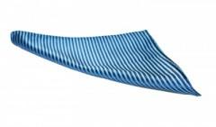 Díszzsebkendő -  Kék csíkos