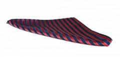 Díszzsebkendő - Kék-piros csíkos