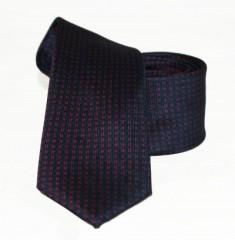 Goldenland slim nyakkendő - Sötétkék-piros mintás