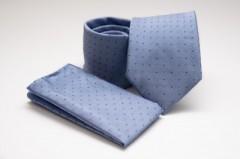 Prémium nyakkendő szett - Világoskék pöttyös