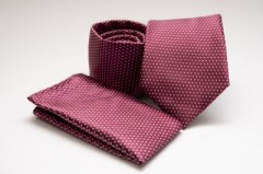 Prémium nyakkendő szett - Burguni pöttyös Szettek