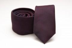 Prémium slim nyakkendő - Sötétlila kiskockás