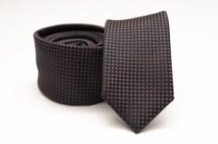Prémium slim nyakkendő - Fekete kiskockás