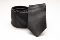 Prémium slim nyakkendő - Fekete kiskockás Kockás nyakkendők