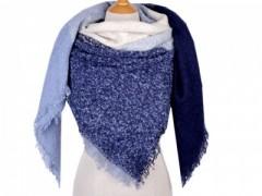 Akril kabátkendő - Kék mintás Női sálak, kendők