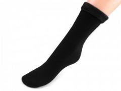 Unisex téli pamut zokni - Fekete