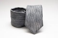 Prémium slim nyakkendő - Szürke mintás