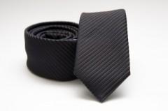 Prémium slim nyakkendő - Sötétszürke csíkos