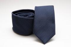 Prémium slim nyakkendő - Kék aprópöttyös