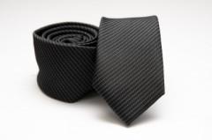Prémium slim nyakkendő - Fekete pöttyös